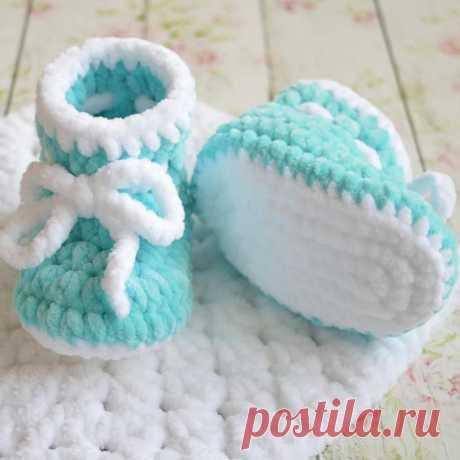 Вязаные крючком пинетки для малышей   Hi amigurumi