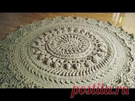crochet home rug #12/ mandala part 1/2/вязаный крючком домашний коврик/alfombra de casa de ganchillo