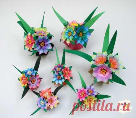 Novos modelos de mini-vasos e mini-mini-vasos | Vania Passos - Origami e Paper Art