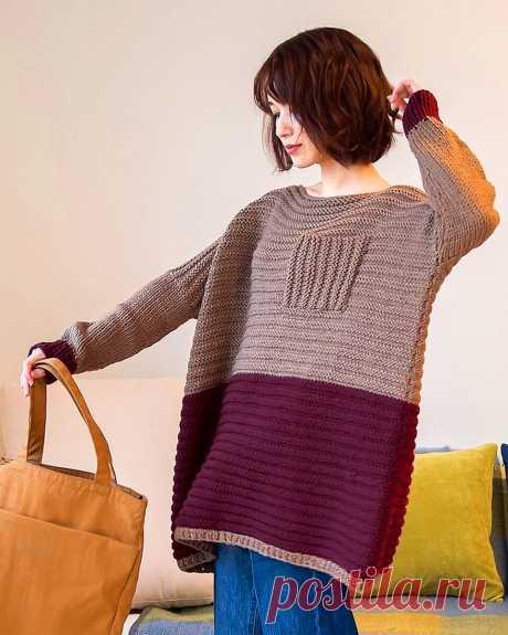 Какие модели вяжут современные японские мастерицы — примеры из японского журнала Knit Ange | Ирина СНежная & Вязание | Яндекс Дзен