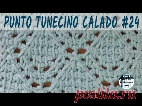 Punto calado tunecino #24 - Crochet tunecino