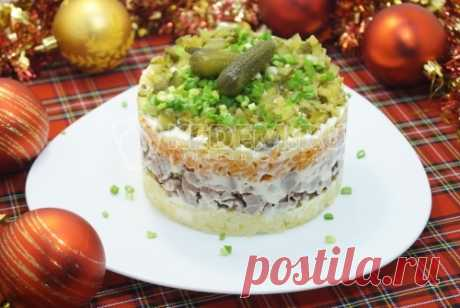 Салат «Новогодняя премьера», пошаговые рецепты с фото