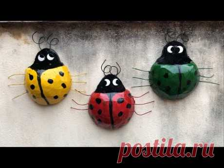 DIY - ❤️ Creative Cement Ideas ❤️ - Ideas from leaf beetles - Wall hanging pots