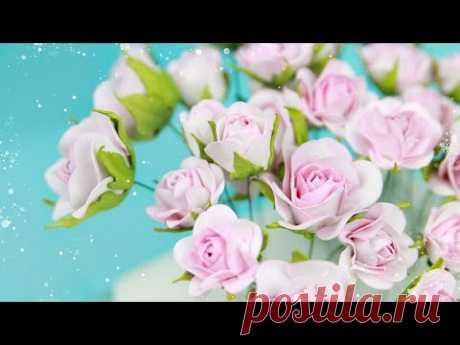 Небольшие Розы и бутоны роз из фоамирана/ Цветы своими руками/ Закулисье33.2/ Foamiran Rose Flowers