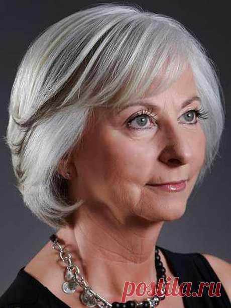 Стрижки для пожилых женщин на короткие, средние, длинные волосы
