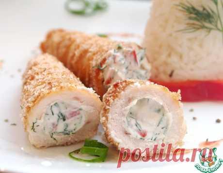 Куриные трубочки с начинкой и рисом – кулинарный рецепт