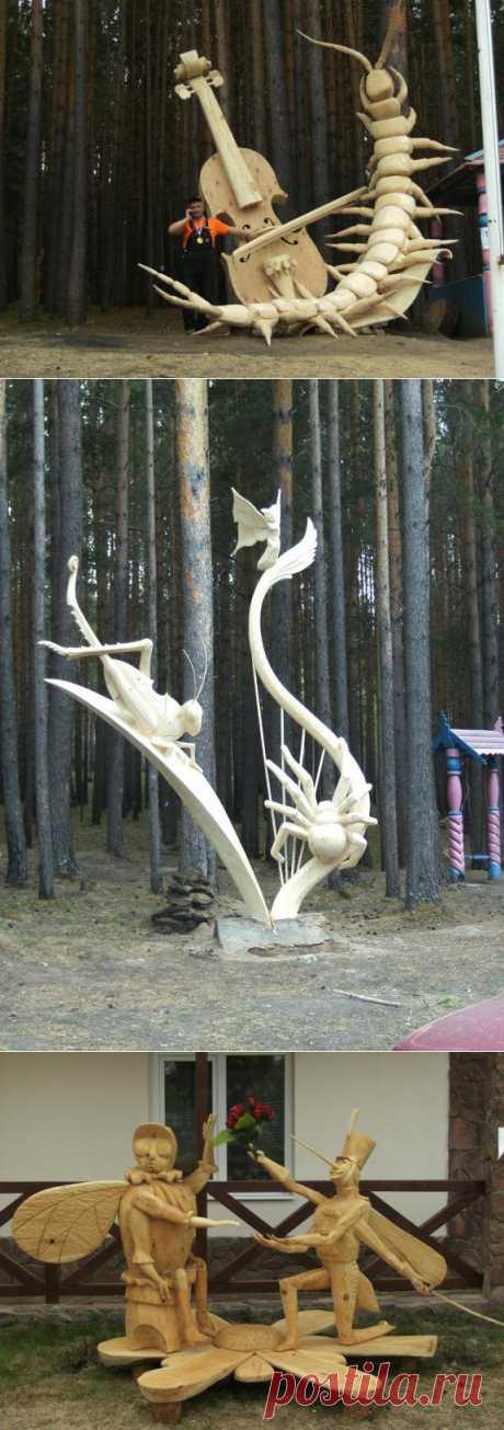 Фестиваль деревянных скульптур «Лукоморье-2013» | Краснодеревщик