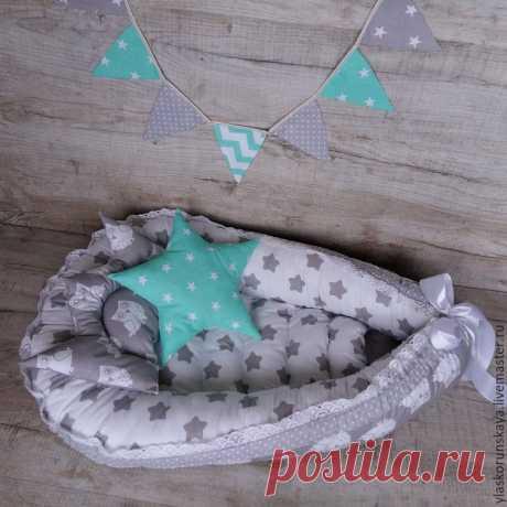 гнездышко-кокон для новорожденного