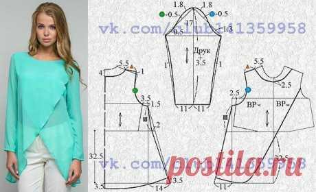 Моделируем простые в пошиве и эффектные в носке блузки — Сделай сам, идеи для творчества - DIY Ideas