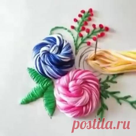 Идея для объемной вышивки