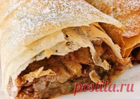 (13) Штрудель с яблоками и грецкими орехами - пошаговый рецепт с фото. Автор рецепта Anastasia Ogai 🏃♂️ . - Cookpad