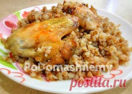Гречка с курицей в духовке — Кулинарная книга - рецепты с фото