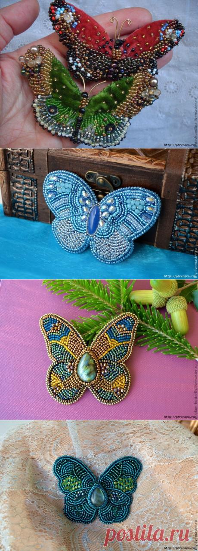 Схемы для вышивки бабочек бисером
