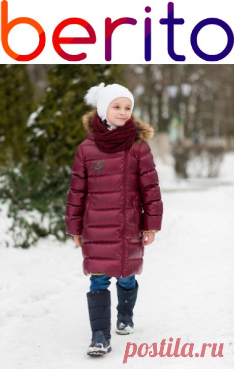 Пальто зимнее пуховое АксАрт  на зиму  для девочки 4546702, купить за 5 900 руб. в интернет-магазине Berito