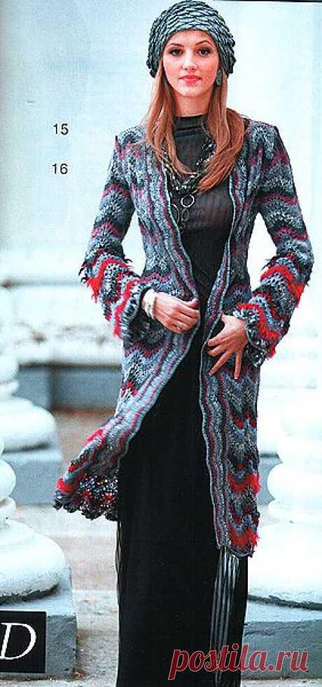 Вязание. Пальто и МК от Олеси Данилюк..