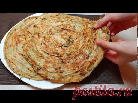 Катлама с луком и зеленью 🔥 Katlama with onions and herbs