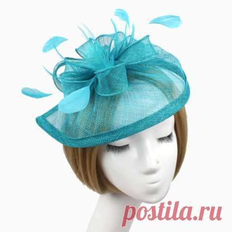 шляпа соломенная Picture - More Detailed Picture about Stylish Feather Headband Fascinator Hats Ball Victorian Style Halloween Cap Picture in Hair Accessories from elinkmall | Aliexpress.com | Alibaba Group