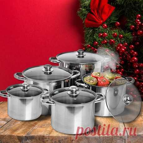 """Как приготовить все на новый год? не хватает посуды? Лайфхак! Заказываешь кастрюли """"Богатый урожай"""" и все успеваешь!"""