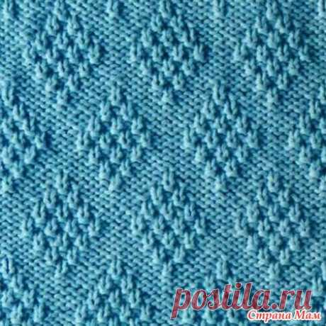 Several options of a pattern Rhombuses - Knitting by spokes - the Country of Mothers