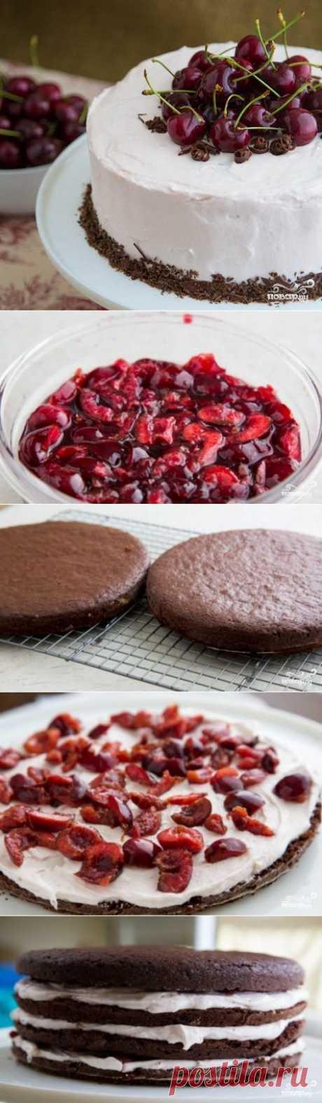 "Торт ""Пьяная вишня"" - пошаговый кулинарный рецепт на Повар.ру"