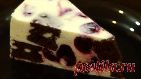Торт-суфле с творогом и вишнями. Пошаговый рецепт. Простой и вкусный. Торт-суфле - это минимум затрат и максимум вкуса. Его можно сделать с любыми ягодами или фруктами. Вместо сливок можно использовать сметану 25-30%Сливки для ...