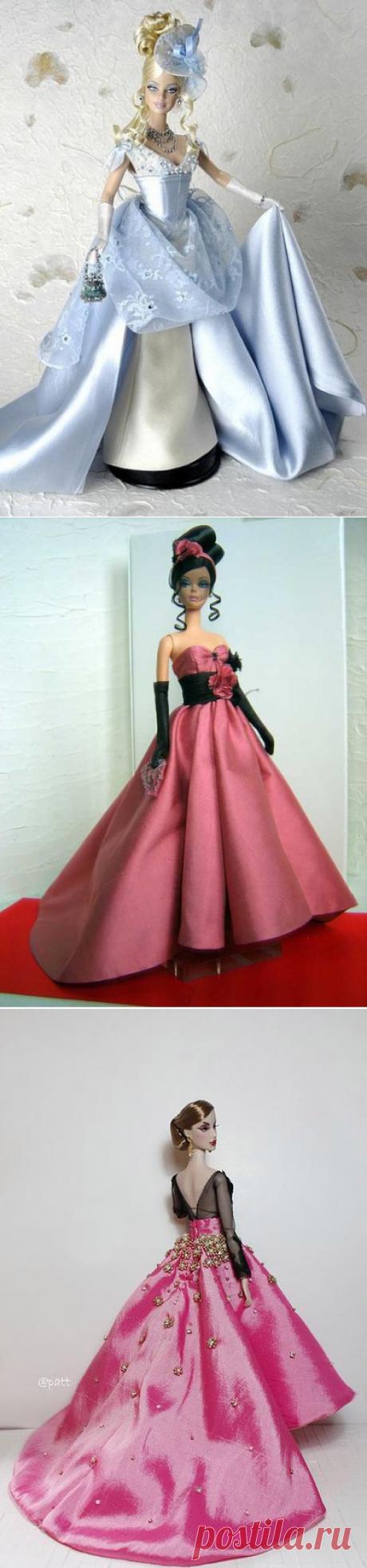 Платья для Барби. Идеи / Необычные поделки