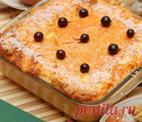 Tenderness — a pumpkin pudding with apples This recipe will quickly win hearts of all family!