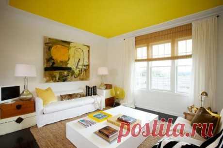 Почему стоит сделать потолок цветным — Роскошь и уют