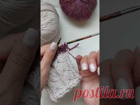 Вязание полос и смена цвета нити