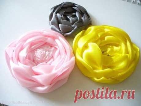 Плетение роз из лент