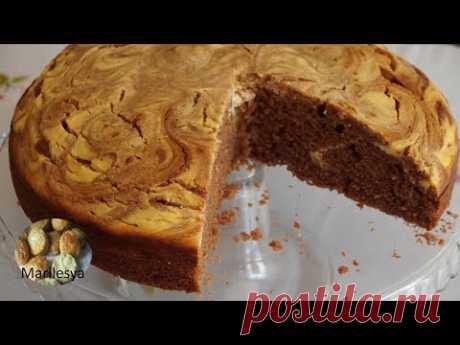 Простой пушистый шоколадный пирог с творогом/Cottage cheese Cake