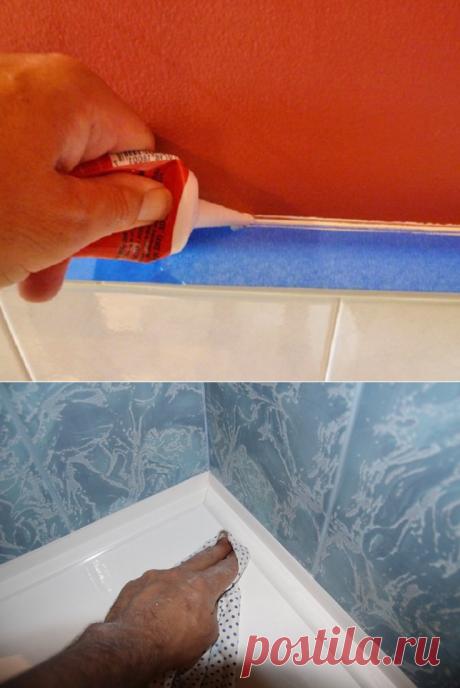 Como he cerrado la hendidura entre la pared y el baño... ¡No repitas mis faltas!