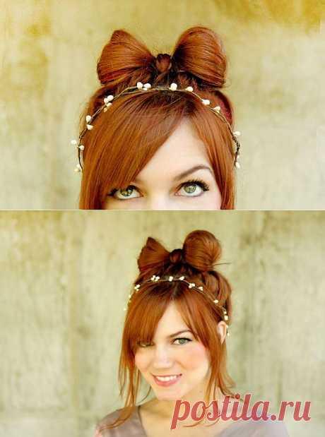 Как сделать бантик из волос / Прически / Модный сайт о стильной переделке одежды и интерьера