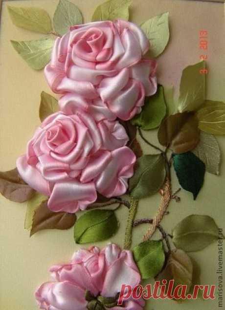 розы - французский узелок