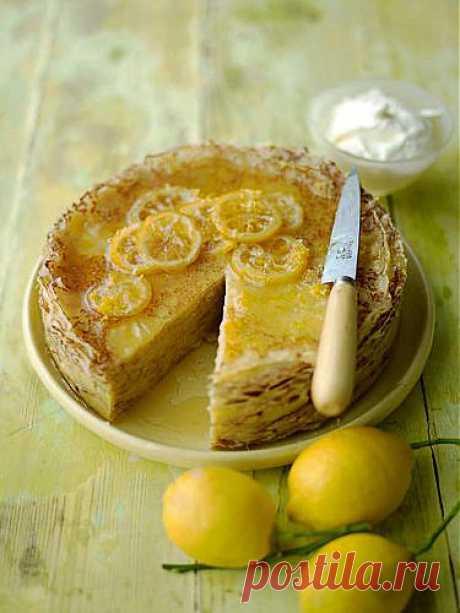 Лимонный блинный торт | Рецепты Джейми Оливера