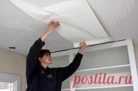 Как поклеить обои и не запачкать потолок обойным клеем — Строительство и отделка — полезные советы от специалистов