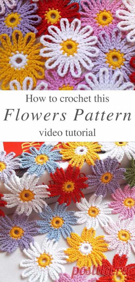 Прекрасный Вязаный Крючком Цветочный Узор, Который Вам Нужно Выучить | CrochetBeja