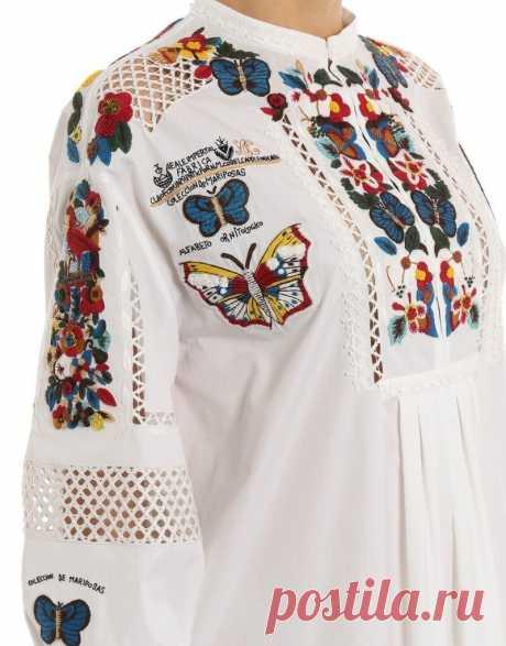 Вещи от Valentino — пример того, что вышивка никогда не выйдет из моды | MIAZAR | Яндекс Дзен