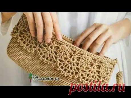Sobre de mano tejido a crochet, con guarda paso a paso.