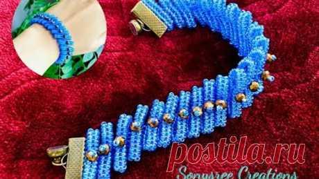 Herringbone Party Bracelet || DIY Beaded Bracelet || Herringbone Beaded Bracelet
