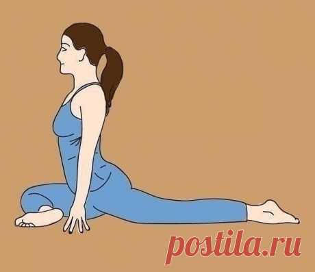 Йога для ленивых. Просто посидите в каждой позе по 20-30 секунд и ваша спина скажет вам «спасибо»