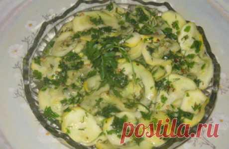 Закуска из маринованных кабачков (пошаговый фото рецепт) - ВашВкус