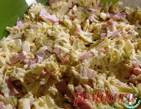 Салат из зеленой редьки с ветчиной – кулинарный рецепт