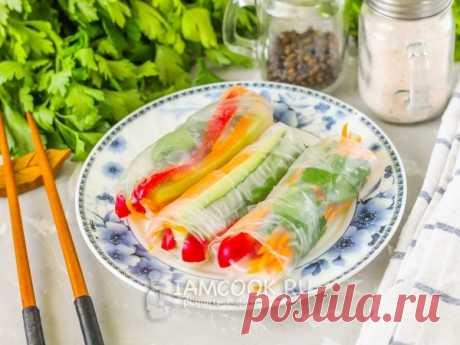 Спринг-роллы с овощами — рецепт с фото