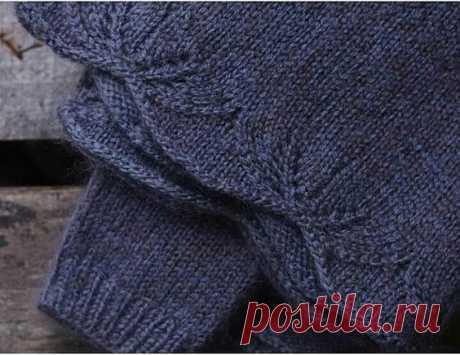 Красивый узор спицами для края вязаного изделия спицами.