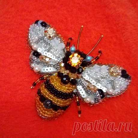 Вышиваем брошь «Пчела» из бисера – мастер-класс для начинающих и профессионалов