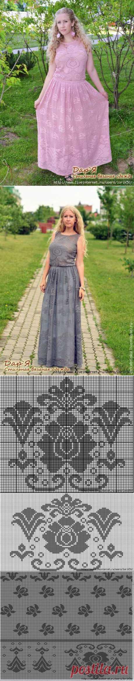 ¡El sarafán y el vestido por un esquema!.