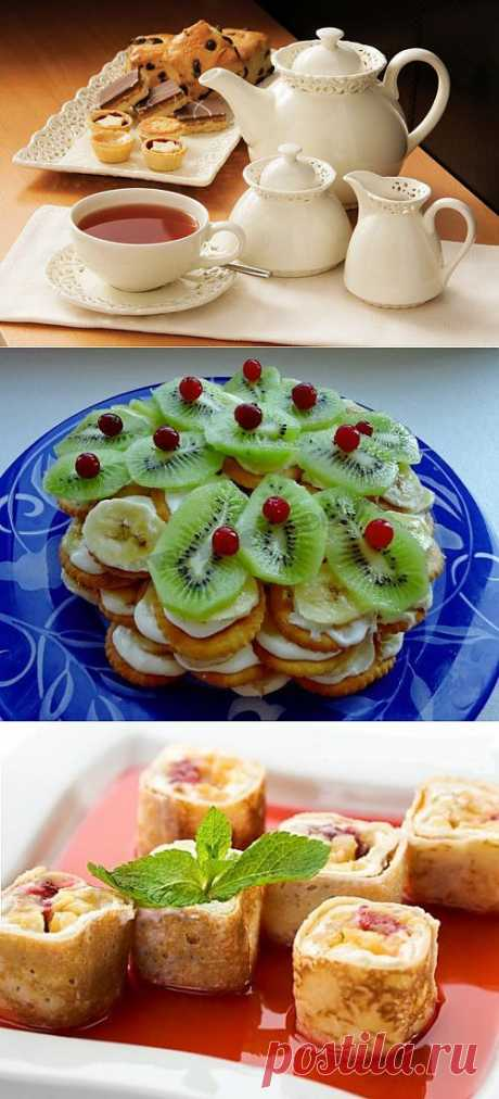 К чаю: 3 самых быстрых десерта / Простые рецепты