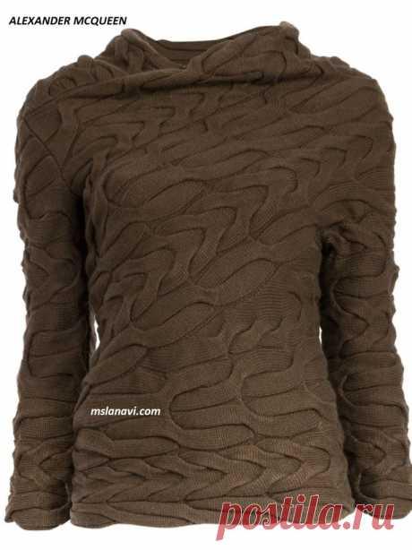 Вязаный пуловер косами от ALEXANDER MCQUEEN | Вяжем с Лана Ви