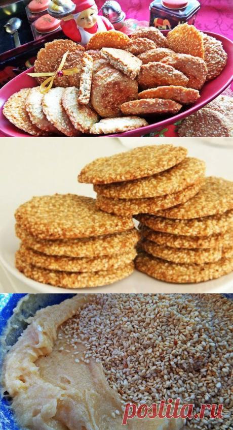 Печенье с кунжутом (Чиполлино, Фитнес, песочное): рецепты